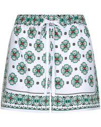 Sandro - Geometric-print Crepe Shorts - Lyst