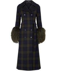 Akris Detachable Gilet Wool Coat - Black