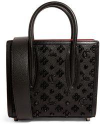 Christian Louboutin Paloma Mini Leather Top-handle Bag - Black