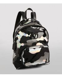 Valentino Garavani Camouspace Fabric Backpack - Black