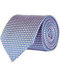 Eton of Sweden   Circle Grid Tie, Pink, One Size   Lyst