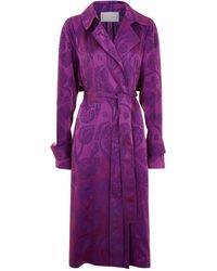 Peter Pilotto - Jacquard Trench Coat - Lyst