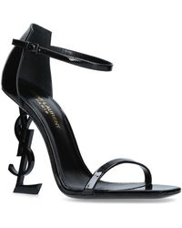 Saint Laurent Patent Opyum Sandals 110 - Black