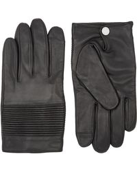 BOSS - Mercedes-benz Ribbed Leather Gloves - Lyst