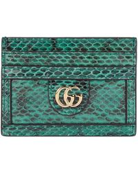 629c9188f4 Gucci Ophidia Snakeskin Card Case in Natural - Lyst