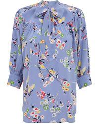 Ralph Lauren Floral Tunic Top - Blue