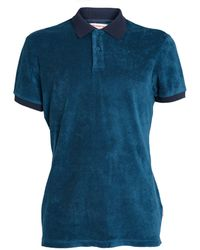 Orlebar Brown Terry Towelling Polo Shirt - Blue
