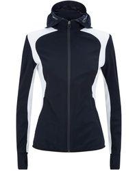 Cavalleria Toscana Hooded Windbreaker Jacket - Blue