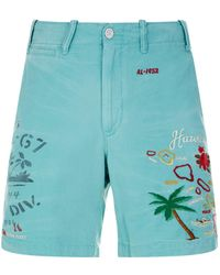 Polo Ralph Lauren - Embroidered Shorts - Lyst