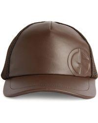 Giorgio Armani Logo Embossed Baseball Cap - Brown