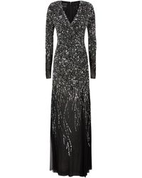 Pinko Sequin-embellished Tulle Gown - Gray