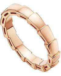 BVLGARI Rose Gold Serpenti Ring - Metallic