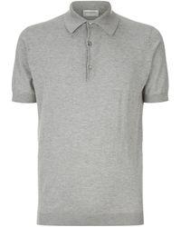 John Smedley Adrian Sea Island Cotton Polo Shirt - Metallic