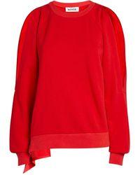 Monse Cold-shoulder Logo Jumper - Red