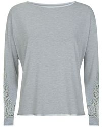 I.D Sarrieri - Lace Lounge Top - Lyst