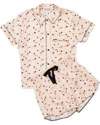 Morgan Lane Tami Ladybird Print Pajama Set - Pink