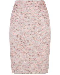 St. John - Metallic Knit Pencil Skirt - Lyst