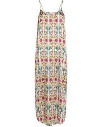 YOLKE Silk-blend Juno Slip Dress - Multicolor