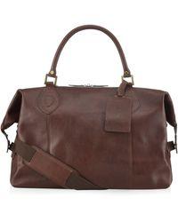 Barbour Leather Travel Explorer Bag - Brown
