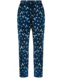 Meng - Kingfisher Silk Pyjama Bottoms - Lyst