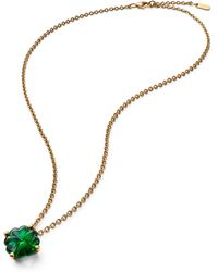 Baccarat Gold-plated Sterling Silver And Crystal Trefle Choker - Green