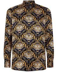 Zilli Silk Paisley Shirt - Black