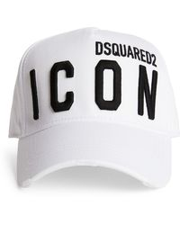 DSquared² Cotton Icon Baseball Cap - White