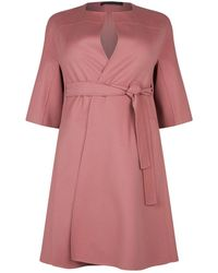 Lyst - Marina Rinaldi Voyage Wool-blend Coat in Gray 50da1ccee87
