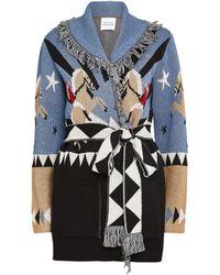 Hayley Menzies Jacquard Sunrise Rodeo Short Cardigan - Multicolour