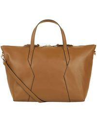 Sandro - Leather Tote Bag - Lyst