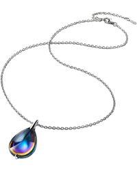 Baccarat Sterling Silver And Crystal Fleurs De Psydélic Necklace - Blue
