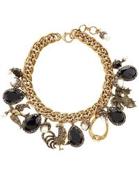 Alexander McQueen - Embellished Charm Necklace - Lyst