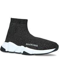 Balenciaga - Glitter Speed Mid-top Sneakers - Lyst