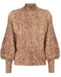 Zimmermann - Espionage Leopard Print Sweater - Lyst