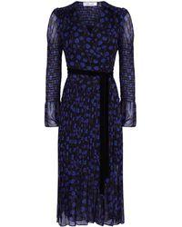 Diane von Furstenberg - Ani Puff Sleeve Wrap Dress - Lyst