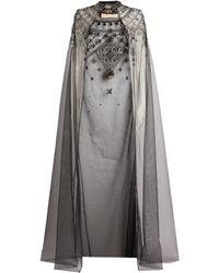 Cucculelli Shaheen Astra Embellished Cape - Black
