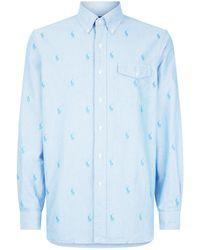 67c6a2c905 Lyst - Polo Ralph Lauren Mens Classic Woven Button Down Shirt (blue ...