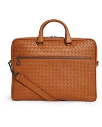 Bottega Veneta - Leather Intrecciato Briefcase - Lyst