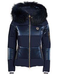 Sportalm Paneled Fur-trim Ski Jacket - Blue