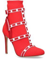 Valentino Garavani Garavani Rockstud Bodytech Ankle Boots 105 - Red