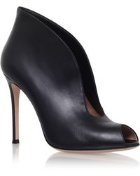 Gianvito Rossi - Leather Vamp Pumps 105 - Lyst