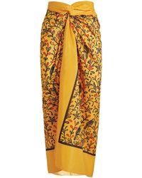 Agua by Agua Bendita Cotton-silk Lavanda Pareo - Yellow