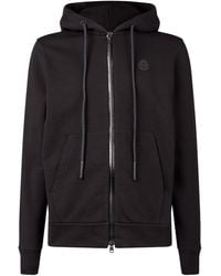 Moncler Zip Front Hooded Cardigan - Black