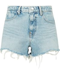 Alexander Wang Bite Zip Shorts - White