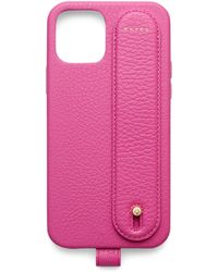 Chaos Leather Hand Hug Iphone 12 Pro Case - Pink