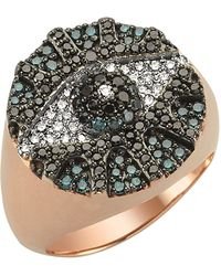 Bee Goddess - Eyelight Diamond Ring - Lyst