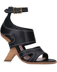 Alexander McQueen - Leather No.13 Wedge Sandals 105 - Lyst