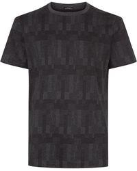 BOSS - Tiburt Geometric Print T-shirt - Lyst