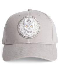 Amedeo Skull And Snakes Baseball Cap - Gray
