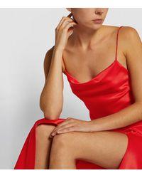 Alice + Olivia Harmony Slip Dress - Red
